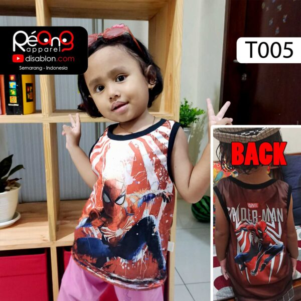 kaos lekbong anak spiderman