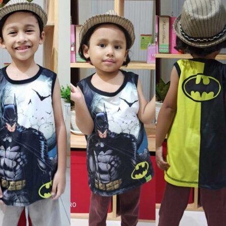 Kaos Lekbong Anak Full Printing Batman