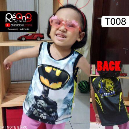 Kaos Lekbong Anak Full Printing Batman T008