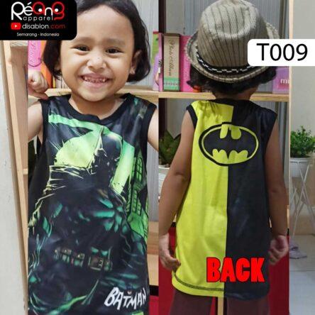 Kaos Lekbong Anak Full Printing Batman T009
