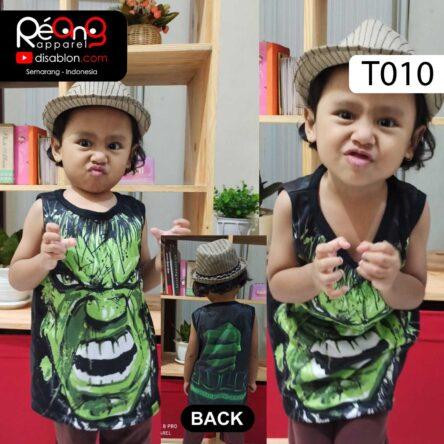 Kaos Lekbong Anak Full Printing HULK T010