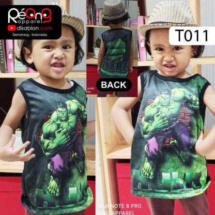 Kaos Lekbong Anak Full Printing HULK T011