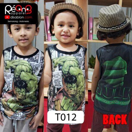 Kaos Lekbong Anak Full Printing HULK T012