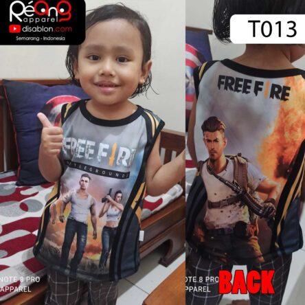 Kaos Kaos Free Fire Anak Lekbong Anak Full Printing T013