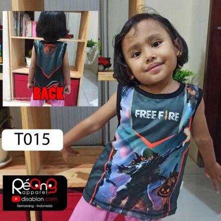 Kaos Kaos Free Fire Anak Lekbong Anak Full Printing T015