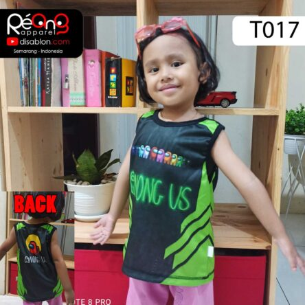 Kaos Among Us Anak, Tank Top Anak Full Printing T017